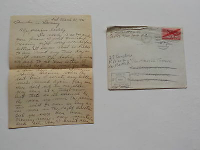 WWII Letter 1945 Slave Laborers Polish Russian Girls 76th Infantry Division WW2