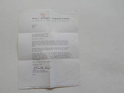 WWII Letter Mickey Mouse Judge Brown Walt Disney Productions Stationary WW2