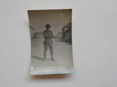 WWII Photo Military Soldier Helmet Germany 76th Infantry Division Photograph WW2