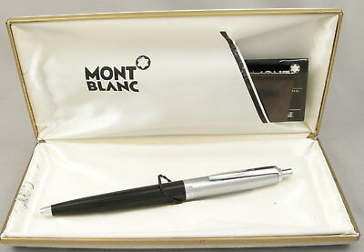 Montblanc 008S Black & Stainless Steel Ballpoint Pen in Box - 1960's - Germany