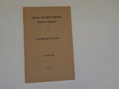 Antique Booklet 1910 Chicago & Northwestern Railway Co. Components Book