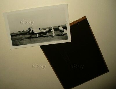 Vintage Original Aircraft Photograph With Negative Gilmore Marcoux Bromberg Neg