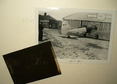 VINTAGE ORIGINAL AIRCRAFT PHOTOGRAPH AND NEGATIVE 1930s BUHL SPEEDSTER AIRSTER??