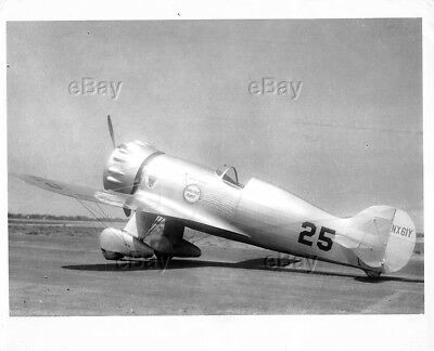 Vintage Aircraft Photo Nx61Y Roscoe Turner Wedell-Williams Hornet Model 44 Racer