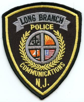 """Long Branch New Jersey Police Department Officer 4.5"""" Patch Communications Unit"""