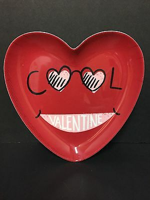 Pottery Barn Kids VALENTINE'S Day Too Cool PLATE Kitchen Table Heart GIFT NEW