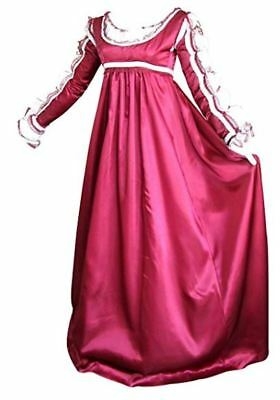 Plus Size Satin Renaissance Dress 4 Piece Layered Masquerade Halloween Costume