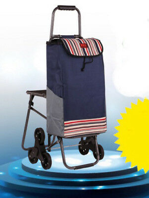 A170 Rugged Aluminium Luggage Trolley Hand Truck Folding Foldable Shopping Cart