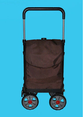 A126 Rugged Aluminium Luggage Trolley Hand Truck Folding Foldable Shopping Cart