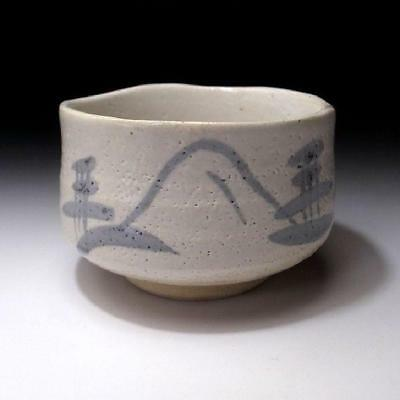 MM3: Vintage Japanese Tea bowl, Shino ware by Famous potter, Kazufumi Wada