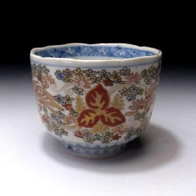 UN3: Antique Japanese Hand-painted OLD IMARI SOBA Cup, 19C