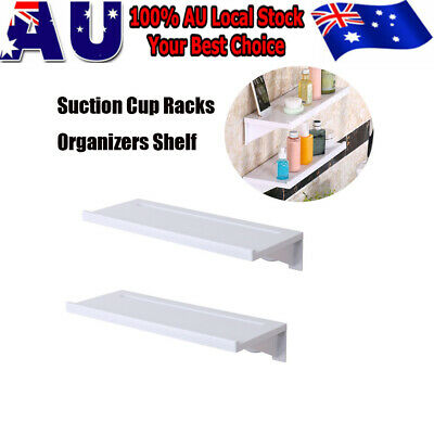 Plastic Suction Cup Bathroom Kitchen Storage Shower Shelf Holder Rack Organizer