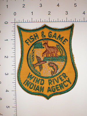 WY Wyoming Wind River Indian tribe ORIGINAL tribal Fish Game Warden police patch