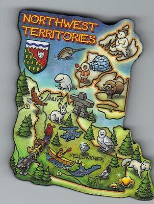 The Northwest Territories  Canada   Artwood  Map Magnet     Yellowknife