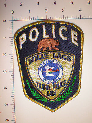 MN Minnesota Mille Lacs Indian Ojibwe Tribe tribal police patch