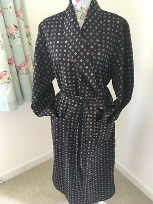 "mens marks and spencer Vintage Paisley Dressing Gown M 38-40"" Chest"