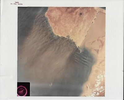Vintage Color 8x10 NASA Red # Photograph Skylab 3 Earth Surface Photo
