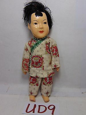 "Vintage Antique Celluloid Doll Japan-Chinese ? 5"" Tall Asian Traditional China"