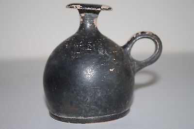 ANCIENT GREEK HELLENISTIC  POTTERY GUTTUS OIL LAMP FILLER FLASK 3rd century BC