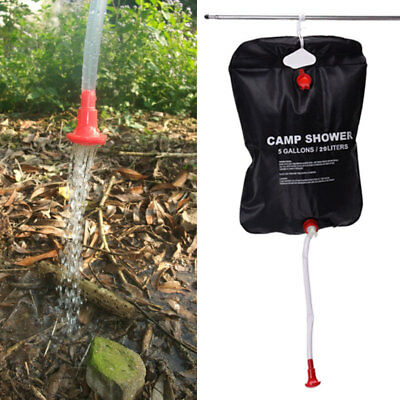 Outdoor 20L Solar Energy Heated Camp Shower Bag Hiking Water Storage PVC Bags