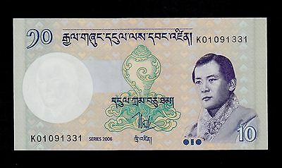 Bhutan  10 Ngultrum 2006  Pick # 29 Unc.