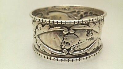 Antique Art Nouveau Silver Reynolds Cherubs Napkin Ring 1903