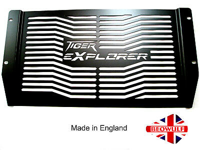 Triumph Tiger 1200 Explorer (12-18) Black Radiator Rad Guard Beowulf T020PCB