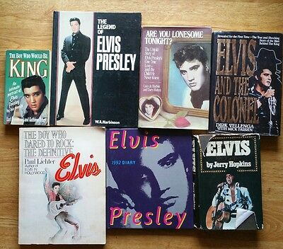 ♫ ELVIS PRESLEY  7 Elvis books - some rare - OOP - in great condition - lot 14 ♫