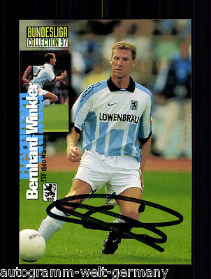 Bernhard Winkler 1860 München Panini Card 1997 TOP Orig. Sign. +A48199
