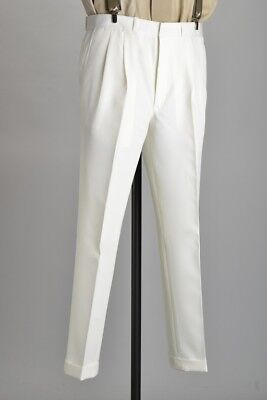 Cricketers' Bespoke Tailored Trousers with Turn-ups. Ref HJU
