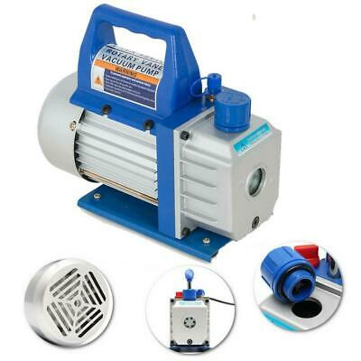 3CFM 1/4HP Rotary Vane Vacuum Pump Deep HVAC R134a Air Refrigerant Conditioning