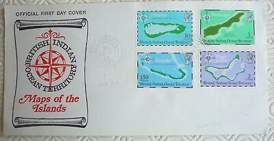 British Indian Ocean Territory FDC with `TPO Nordvaer` ships postmark (1975)