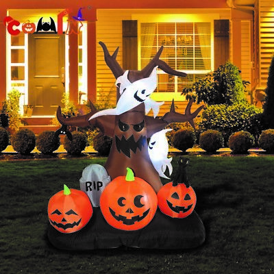 8' Halloween Airblown Inflatable Creepy Haunted Tree Yard Outdoor Decorations
