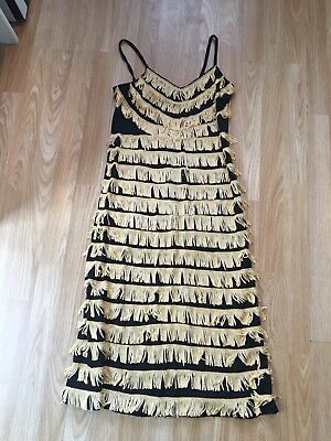 1920's Flapper Dress Size 10/12 With Accessories