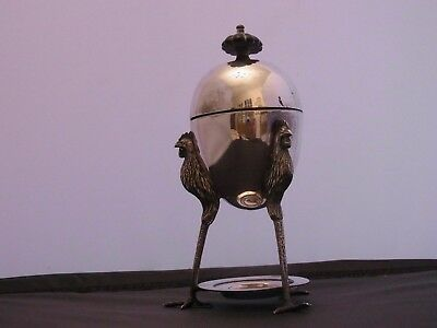 Antique Silver Plated Egg Coddle Antique Silver Plated Egg Warmer Tableware
