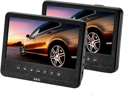 "AEG DVD 4555 Kopfstützen DVD-Player mit 2 Monitoren 7"" LCD-TFT-Display 645856"