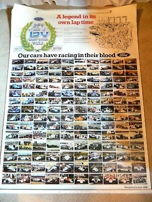 Vintage Ford DFV 150 Grand Prix Wins 1967 1982 Car Poster Roughly 55x40 inches!