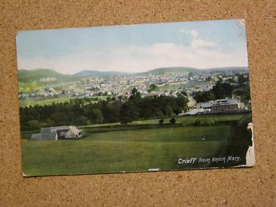 1909 Postcard Crieff from Knock Mary,Perthshire,Scotland.