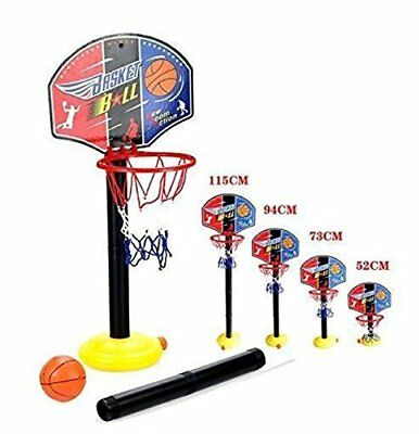 NEW Kids Adjustable Basketball Back Board & Hoop Net Set Children Indoor Outdoor