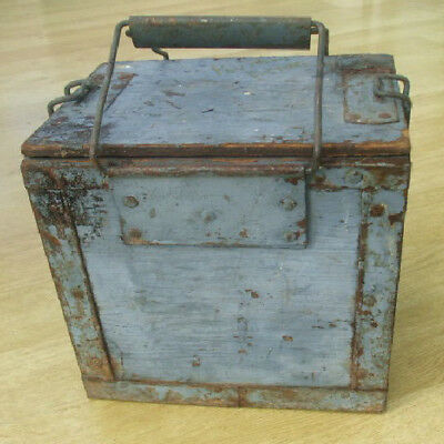 Royal Navy Wooden Flare Ammunition box