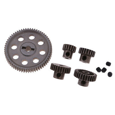 Steel Spur Diff Main Gear 64T Motor Pinion 29/26/21/17T for HSP 94111 94123