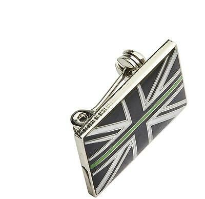Thin Green Line Union Jack UK GB Resin Brooch Badge Ambulance / Paramedic