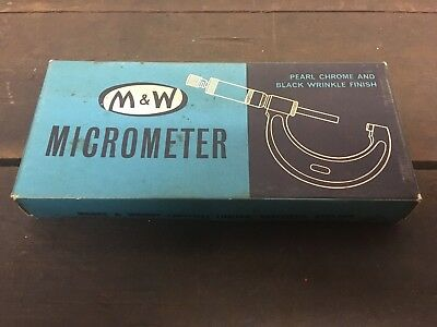 Vintage Moore And Wright Micrometer 25mm - 50mm. 966MB. Still Boxed