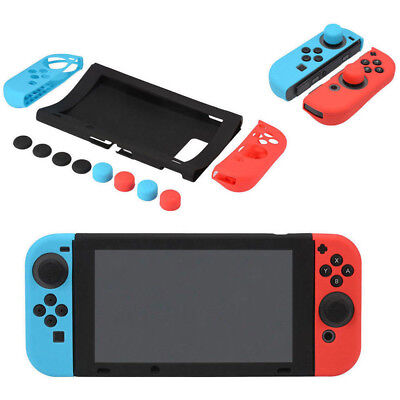 For Nintendo Switch Anti-Slip Silicone Protective Skin Case Cover With Thumb New