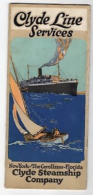 Early 1900s Clyde Steamship Line To Florida and Carolinas