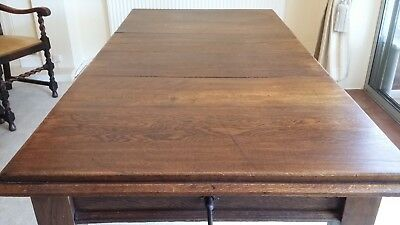 Antique Victorian  dining table solid oak
