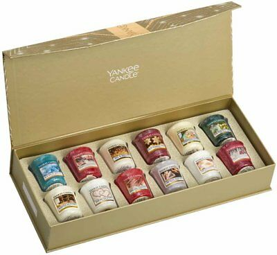 Yankee Candle Christmas 12x Votive Candles Gift Set