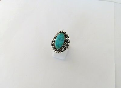 Ring m. Türkis, Southwestern Indian Art, Navajo Schmuck, Chief Dodge, 925 Silber