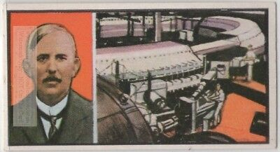Ernest Rutherford  Father Of Nuclear Physics Atom Bomb  Vintage Trade Ad Card