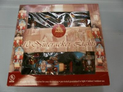 10 Nutcracker Lights Christmas Enchanted Forest String Lights In/outdoor In Box